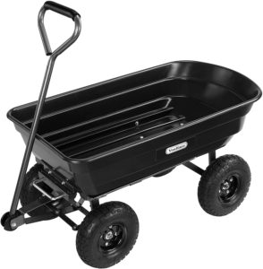 VonHaus 75L Garden Tipping Cart