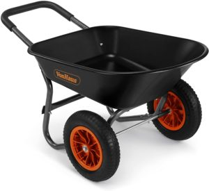 VonHaus 78L Two-Wheeled Cart