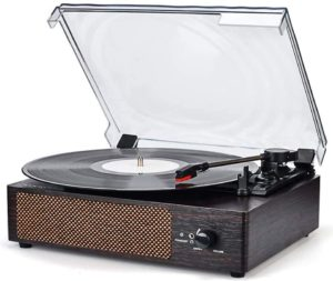 WOCKODER Turntable with Built-in Stereo