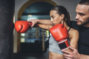 a boxing trainer and a newbie