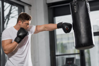 a man training for boxing