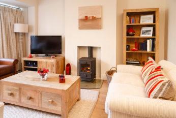 a modern livingroom