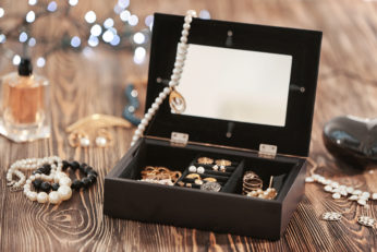 hinged storage with compartments