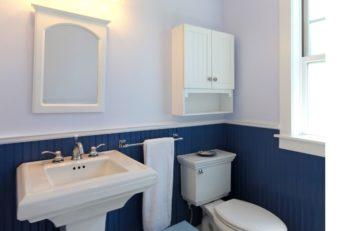 wall-mounted cupboard with open shelf