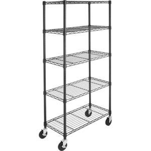 AmazonBasics 5-Shelf With Casters