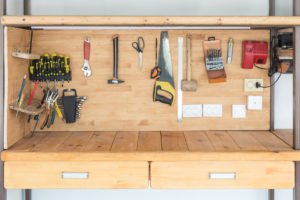 Lots of different tools at workshop