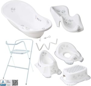 Tega Bathtub with Frame and Seat