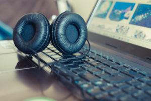 an over-ear headphones
