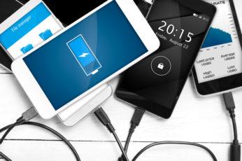 cellphones charging