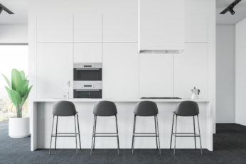 chairs in modern kitchen