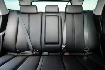 the back interior of a vehicle