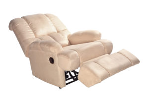 a contemporary reclining sofa