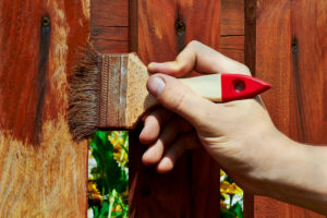 painting a wooden enclosure