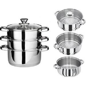 3-Piece Stainless Steel Cooker Pot Set