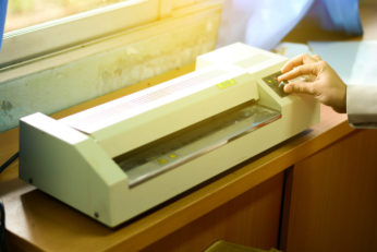 machine used to laminate documents