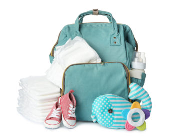 nappy backpack with baby essentials