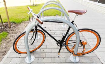 bicycle locked at street parking