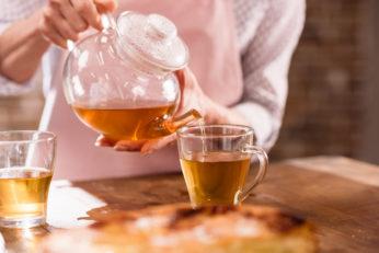 hot pot of tea