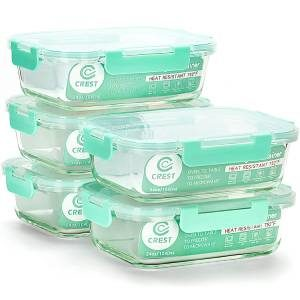 Crest 5-Pack Glass Meal Prep