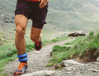 jogging on a rugged terrain