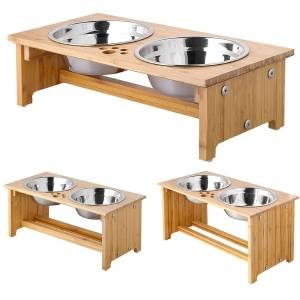 FOREYY Stainless Steel with Bamboo Stand