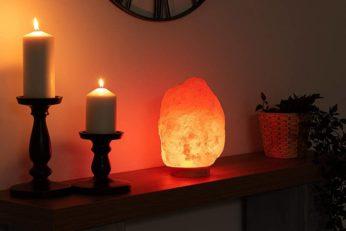 decorative lighting made with Himalayan rock salt